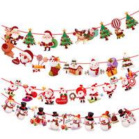 4m Banquet Bunting Mirror Star Paper Banner Drop Garland Christmas Decor Props