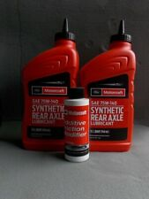Ford Motorcraft 2 Quarts SAE Synthetic 75W140 and Friction Modifier Additive