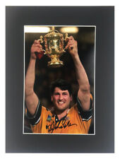 Signed John Eales Photo Display - Rugby World Cup 1999 +COA