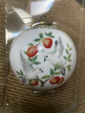 Wedgwood Twelve Days Of Christmas Ball Ornament Two Turtle Doves Second Day
