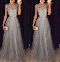 Formal Women Wedding Bridesmaid Evening Party Long Ball Prom Gown Cocktail Dress