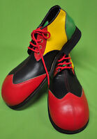 ZH002 Red//Black ZYKO Professional Real Leather Clown Shoes Extra Long model