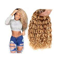 FASHION LINE Brazilian P27/613 Water Wave Blonde Human Hair Extensions Unproc...