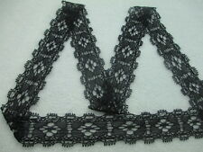 Beautiful high quality black stretch lace ribbon length 10 yards wide and 2.5 cm