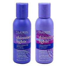 Clairol Shimmer Lights Blonde & Silver Shampoo & Conditioner 2oz Set Travel Size