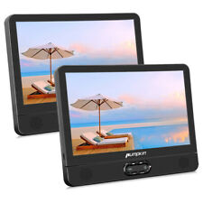 "12"" Dual Screen Portable DVD Player Car Headrest Monitor Rechargeable USB AV-IN"