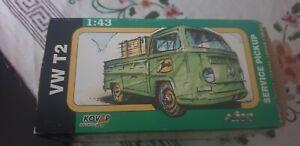 Kovap Volkswagen T2 Pick Up John Deere Service Pick Up tin plate Czech made