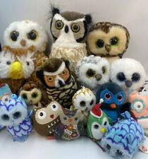 Huge lot of Plush Nice Clean Owls Wild Republic TY (Swoops Spells Sammy)T.A.G. +