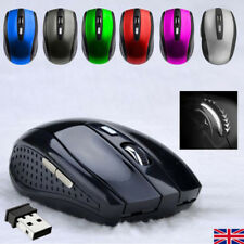 2.4GHz Wireless Cordless Mouse Mice Optical Scroll For PC Laptop Computer UKSHIP
