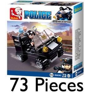 SLUBAN POLICE MINI SWAT TRUCK 73pcs CONSTRUCTION BUILDING BRICKS VEHICLE 0638C