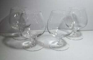 Set of 4 Brandy Snifters, Bar Glasses