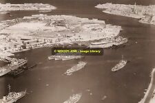 rp10489 - Warships in Harbour , Malta - photo 6x4