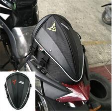 Bike Motorcycle Moped Backpack Handle bag Black Carbon Fiber Style Waterproof
