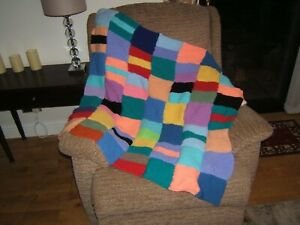 PAIR OF HAND KNITTED BLANKETS