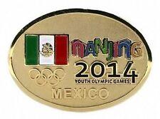 2014 Nanjing YOG Olympic MEXICO Internal NOC Team Delegation RAISED FLAG  pin