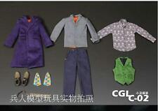 Custom Joker Heath Ledger 2.0 1/6 Costume Set DX11 Suit for Hot Toys Body CGL