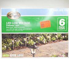 Hampton Bay LED Low Voltage Pathway Coach Style Light Black Finish 6 pack
