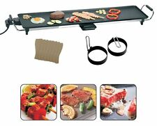 XXXL Electric Teppanyaki Table Top Grill Crêpière Barbecue Camping & spatules