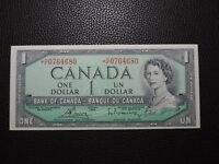 1954 $1 Dollar Bank of Canada Banknote Replacement *H/F0764680 Modified UNC Gr