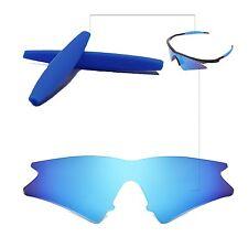 Walleva Ice Blue Replacement Lenses+Earsocks For Oakley M Frame Sweep