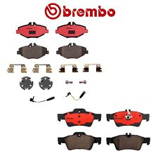 For Mercedes W211 E320 E350 Front & Rear Ceramic Brake Pads with Sensors Brembo