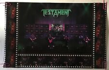 vintage poster Testament Pin-up on stage photo picture 1990 Brockum Collage 90's
