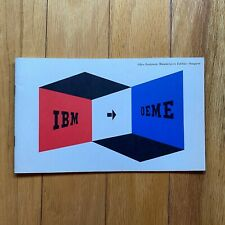 Rare Ibm Office Equipment Manufacturers Exhibits — Inaugural Booklet 1959