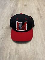 Zephyr Portland Trail Blazers Hat NBA Basketball Snapback Rip City Black Red
