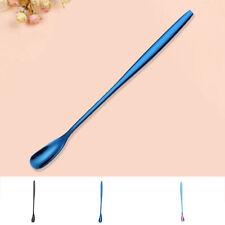 2x Stainless Steel Long Handle Stirring Ice Spoon Coffee Tea Spoons Tableware