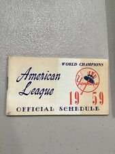1959 New York NY Yankees Baseball Schedule Gillette Razor Ad Flip Book