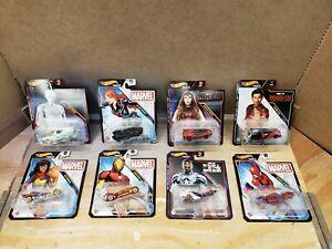 Hot Wheels Marvel Character Cars Set of 8 Vehicles - Shang-Chi, Wanda Vision ++
