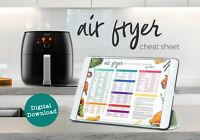 Air Fryer Cheat Sheet Cooking Times, Temps & Measures printable - Download