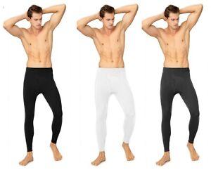 2 Pack Thermal Underwear Mens Long Johns for Men Warm Underwear Leggings Bottoms