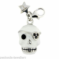 Tingle Sterling Silver clip on Skull Charm with Gift Box and Bag SCH229
