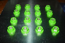 (16)10mm x 1.25 ATV Lug Nuts Kawasaki Green Powder Coated Honda Yamaha Kawasaki