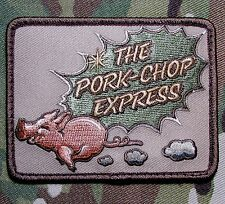 PORK CHOP EXPRESS ARMY MORALE USA ISAF TACTICAL INFIDEL DESERT ARID VELCRO PATCH
