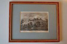 Original Antiguo Enmarcado impresión lanstephar Castillo Gales Circa.1815 45