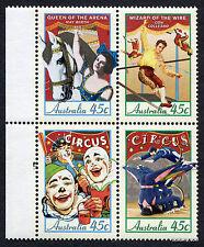 1997 Circus Anniversary SG1675/8 Selvedge Block of 4 MUH Mint Stamps