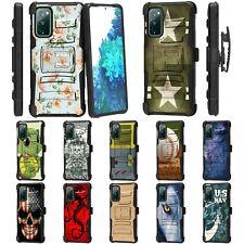 For Samsung Galaxy S20 FE Fan Edition Rugged Armor Hybrid Holster Belt Clip Case