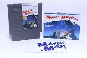 NICE VINTAGE NINTENDO NES MANIAC MANSION VIDEO GAME W/ MANUAL TESTED WORKS