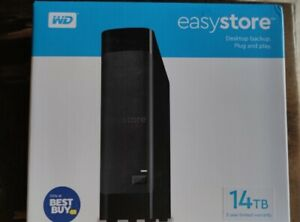 WD - easystore 14TB External USB 3.0 Hard Drive - Black (BRAND NEW SEALED)
