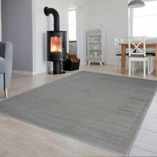 Grey Rug Modern Design Small Large Floor Carpet Contemporary Rugs Plain Pattern