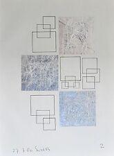 Constructivistische tekening+collage # SIEP VAN DEN BERG #1980, gesigneerd, mint