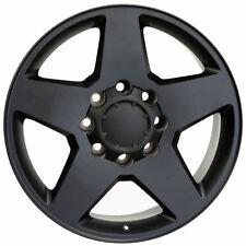 "20"" Wheels For Chevy Silverado 3500 GMC Sierra 3500 Black 8x180 Rims Set Of 4"