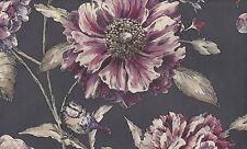 Cordelia, Plum, Flower & Bird Wallpaper