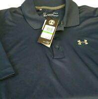 Under Armour Heatgear Men's Blue Polo Shirt Size L Tags @ $54