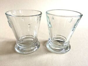 """La Rochere France Bee Drinking Glasses Paris Musees 4"""" T LOT OF 2"""