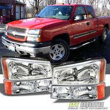 2003-2006 Chevy Silverado 1500 2500 Headlights+Bumper Signal Lamps Left+Right
