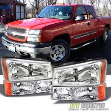 2003-2006 Chevy Silverado 1500 2500 Headlights+Bumper Signal Lamps Left+Right