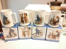 4 Norman Rockwell Seafares Tankard Collection Cup Mug Long John Silver's new
